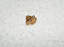 Marked SC Tiny Goldtone Butterfly Brooch Lapel Tac Pin
