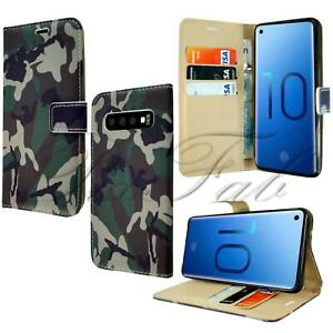 For Apple Samsung Huawei - Premium Camouflage Army Stand Wallet Phone Case Cover
