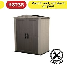 Factor 6x3 Resin Garden Shed 1.78m x 1.13m x 2.08m [FREE Storage Box]