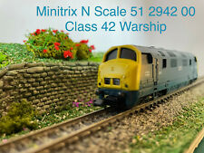 Minitrix N 51 2942 00 Class 42 Warship - Excellent Condition - See VIDEO, boxed