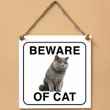 British Shorthair Beware of cat Targa gatto cartello ceramic tiles