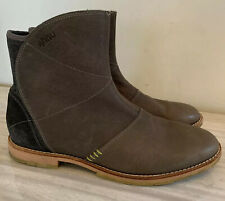 AHNU Helena Leather Ankle Boots Short 9/ 40 Side Zip