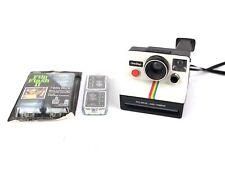 Vintage 1979 Cámara Polaroid One Step Tierra-Plus un montón de cartuchos flash!