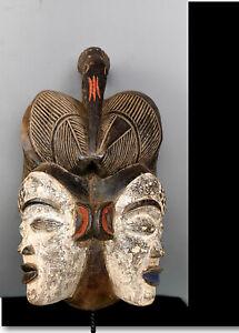 Old Tribal Punu Okuyi Bichaphallus Mask       ---  Gabon BN 58