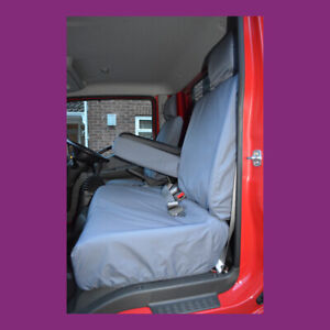 Grey Tailored Waterproof Front 3 Seat Covers Fits Nissan Cabstar 2007+