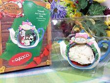 Enesco Mice in Teapot ornament Two for Tea shoppe