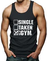 Single Taken At The Gym - Gym Workout Men's Tank Top T-shirt