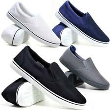 Mens Slip On Casual Canvas Espadrilles Deck Plimsolls Trainers Pumps Shoe Size