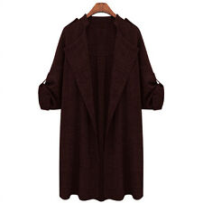 OVERSIZED Women Lapel Trench Coat Blazer Long Cardigans Overcoat Jackets Outwear