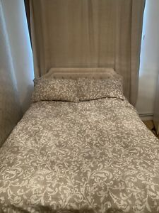 double bed frame with mattress used