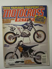 1995 August MOTOCROSS ACTION Magazine moto x mx dirt bike racer AHRMA Vintage