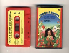 GIOCA E SUONA CON CRISTINA D'AVENA Musicassetta 31 OTTIMO Mc Audiocassetta 1989