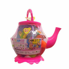Large Plastic Teapot Toy Tea Set Role Play 19pcs Kids Children