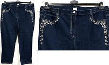 NUOVO TAGLIE FORTI elegante donna elasticizzato jeans pantaloni in (D) . blu con