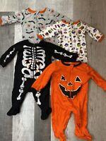 CELEBRATE Halloween SLEEP /& Play One Piece Bodysuit GRAY SPIDER NB 3-6m,6-9m