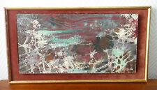 """Henri PLISSON 1908-2002 """"Lac d' hiver"""".huile sur papier marouflé panneau 1966"""