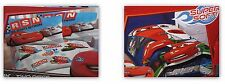 Disney Pixar Cars 1 2 Micro Mink Twin Sheet Pillowcase & Raschel Blanket 3Pc Set