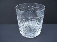 Royal Brierley Crystal Grapevine Pattern Double Old Fashioned Tumbler 9oz Glass