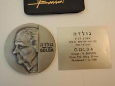 Israel Prime Minister Golda Meir by Naim Basson Private Medal 59mm 100g Silver