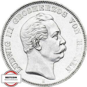 J 67  5 Mark HESSEN Ludwig 3 von 1876 H in f.STG  1014007