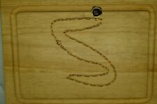 "18"" YELLOW GOLD FILLED CABLE CHAIN NECKLACE 2.5mm"