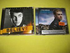 Justin Timberlake Justified & Justin Bieber Believe 2 CD Albums R&B Swing Pop