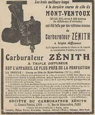 Z9427 Carburateur ZENITH -  Pubblicità d'epoca - 1921 Old advertising