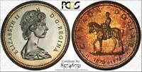 1973 Canada Silver Dollar PCGS SP66 Beautiful Dark Golden Toned Coin R.C.M.P