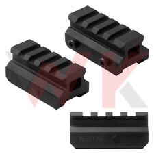 """Tactical 0.75"""" Inch Riser Picatinny Weaver Scope Mount See Through Slot Rail"""