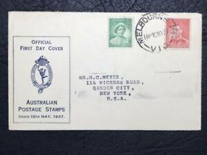 AUSTRALIA 1937 FDC : KING GEORGE VI CORONATION
