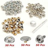 Boat Parts & Accessories Marine Hardware 2019 New Style 122pcs Snap Fastener Stainless Steel Kit Canvas To Screw Press Stud Boat Cover