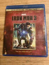 Iron Man 3 3D(Blu-ray/DVD, 2013,3-Disc) Authentic Disney US Release