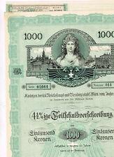 Reichshaupt. und Residenzstadt Wien, 1917, ungelocht/ Kupons, dekorativ, VF