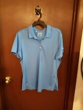Adidas women's polo golf shirt, size XL, light blue, NWT!