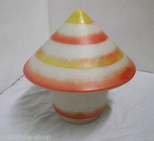 années 70 design abat-jour verre dépoli couleur forme de Champignon Lampe 70