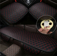 Universal Car Seat Pad Cushion Front+Rear Chair PU Leather Cover Mat 3pcs/Pack