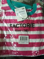 Factorie relaxed crew neck Womens T Shirt Size M