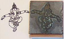 Dancing Ganesha Hindu rubber stamp by Amazing Arts