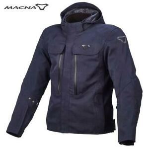Motorcycle Jacket 4 Seasons With Guards Back / Crankshaft Blue MACNA Quga