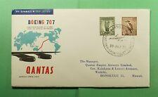 Dr Who 1959 Australia First Flight Qantas Sydney To Honolulu Hawaii Usa f58279