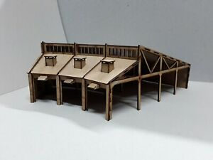 Laser Cut OO Scale Round House Locomotive Shed Various Sizes