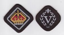 1990's HONG KONG / HK SCOUTS - VENTURE QUEEN'S SCOUT Top Rank Award Badge SET