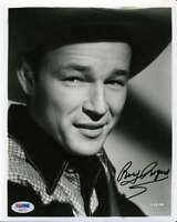ROY ROGERS SIGNED PSA/DNA CERTIFIED 8X10 PHOTO AUTHENTICATED AUTOGRAPH