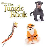 "DISNEY JUNGLE BOOK 8"" SOFT PLUSH STUFFED TOY BAGHEERA KAA SHERE KAN BALOO LOUIE"