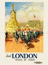 Viajes Turismo Londres Engl Reino Unido el Palacio de Buckingham Estatua Guardia Caballo impresión lv4214