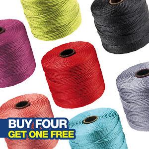 Beadsmith S-Lon Superlon Kumihimo Thread Cord   70m Reel   Tex 210