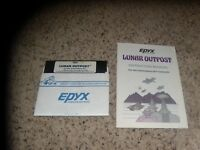 "Lunar Outpost Commodore 64 C64 5.25"" disk with manual"