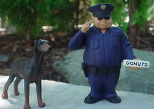 Police Officer w Donuts & Doberman 1/24 Scale G Scale Diorama Accessory Items
