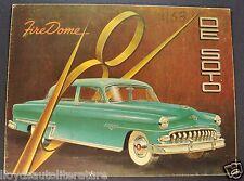 1953 DeSoto Firedome 8 Sales Brochure Folder Export Market Original 53