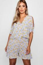 Polyester Playsuit Plus Size Jumpsuits & Playsuits for Women